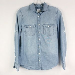 J. Crew | Light Wash Denim Chambray Button Down